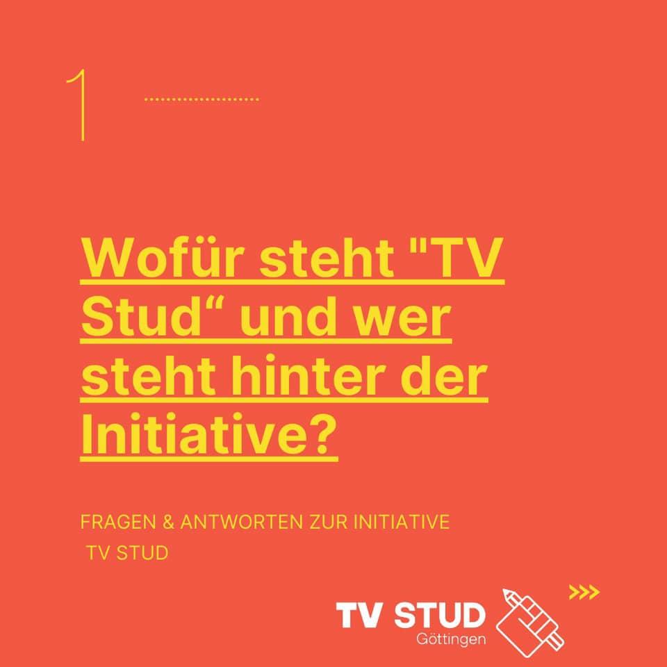 """FAQ#1: Wofür steht """"TV STUD"""" und wer steht dahinter?"""