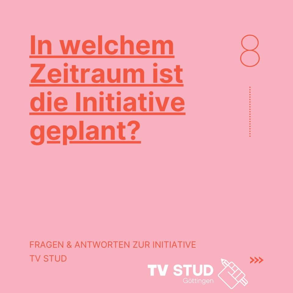 FAQ#8: In welchem Zeitraum ist die Initiative geplant?